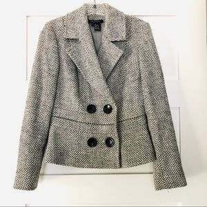 Etcetera Double-Breasted Wool Blend Coat